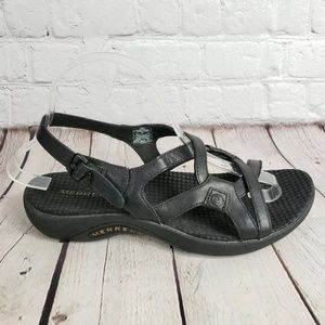 Merrell Aster Leather Sandals Womens 8 Shoes